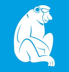 Orangutan icon white vector