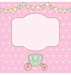 Polka dot background with frame for text or photo vector image vector image