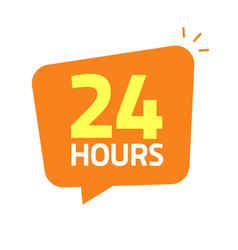 24hrs icon banner 24 hours vector
