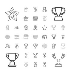 37 prize icons vector