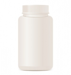 A white plastic bottle isolate vector