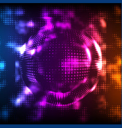 abstract colorful mesh background vector image