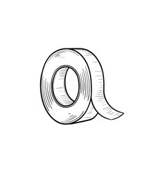 adhesive tape hand drawn sketch icon vector image