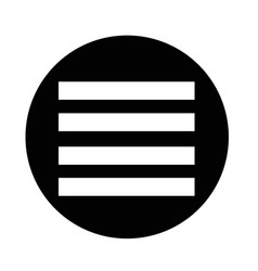 align text icon vector image