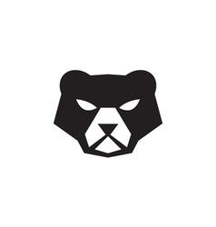 American Black Bear Head Retro vector
