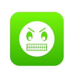 angry emoticon digital green vector image