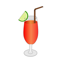 appetizing juice drink icon vector image