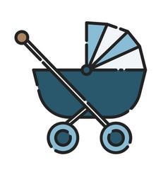 baby stroller icon design clip art color icon vector image