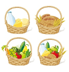 baskets vector image