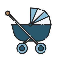 bastroller icon design clip art color icon vector image