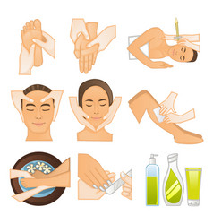 Beauty spa icons vector