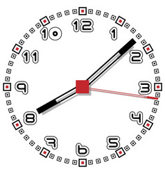 black and white clock simple fifty one edition vector image