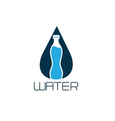 bottle of water design concept vector image