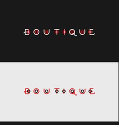 Boutique logo monogram vector