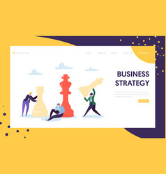 Business strategy plan thinking landing page vector