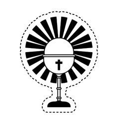 chalice first communion icon vector image