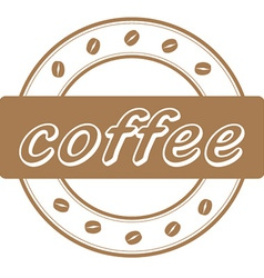 Coffee beans stamp vector