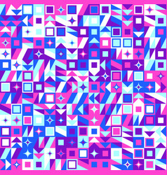 Colorful random mosaic pattern background vector