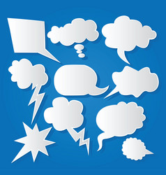 Comic bubble speech balloons speech cartoon 213 vector