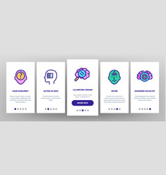Consciousness onboarding icons set vector