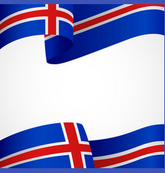 Decoration iceland insignia vector