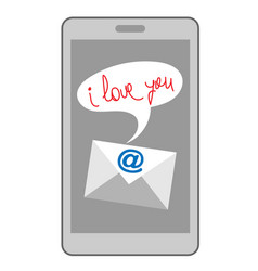 email i love you on mobile vector image