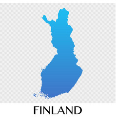 Finland map in europe continent design vector