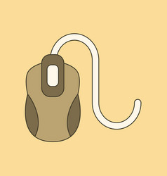 Flat icon on background computer mouse vector