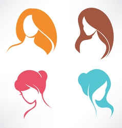 haircut icons set vector image