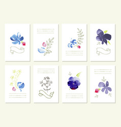 Hand drawn collection of romantic floral vector