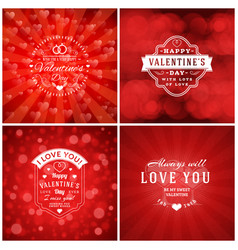 Happy valentines day greeting card design vector