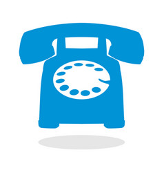 icon of a telephone vector image