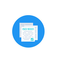 iso 9001 standard icon vector image