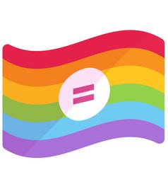 Lgbt equality flat vector