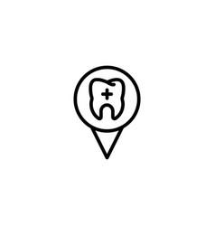 location dental stomatology position gps map icon vector image