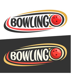 Logos for bowling game vector