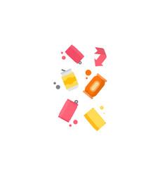 Management concept separation garbage vector