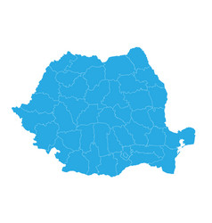 Map of romania high detailed map - romania vector