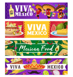 mexican holiday food chilli musician viva mexico vector image