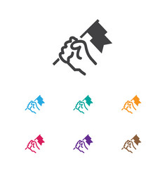Of job symbol on flag icon vector