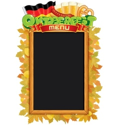 Oktoberfest Menu Blackboard Template vector image