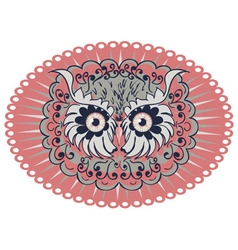Ornamental Owl Head4 vector image