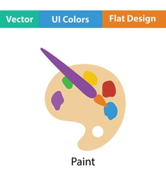 Palette toy icon vector image