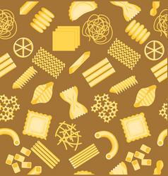 Pasta pattern background vector