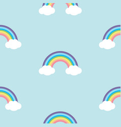 pastel rainbow seamless pattern vector image
