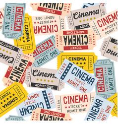 pattern cinema ticket retro style vector image
