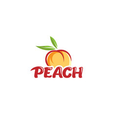 peach orange text logo vector image