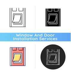 Pet doors icon vector
