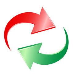 reload arrow icon vector image