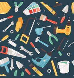 repair tools service seamless pattern vector image